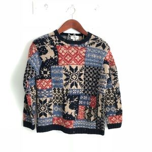 J. Crew Hand Knit Christmas Winter Thick Sweater